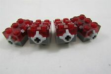 Genuine LEGO LED Light-Up Electric Brick Red 2x3  lot of 4