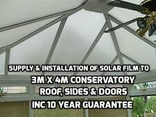 Supply & Installation to 4mx3m  Polycarbonate Conservatory Roof & Sides 10y Guar