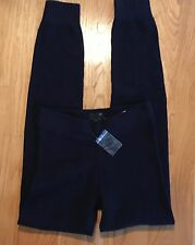 NWT J Crew Collection XXS Women's Cashmere Waffle Leggings Navy $248 #47958