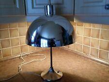 Vintage mid century modern retro atomic metal chrome dôme lamp eames
