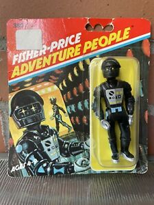 VINTAGE 1979 FISHER-PRICE FP ADVENTURE PEOPLE MOC CLAWTRON SPACE ROBOT ON CARD