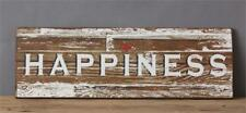 Country new distressed wood wall sign  / HAPPINESS