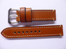 22mm Watch Strap Band with Buckle - 22/22mm Thick Leather Panerai Style