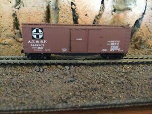 N Scale Micro trains 40' wood side boxcar ATSF SANTA FE NIB