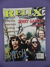 RELIX - October 1995 -Jerry Garcia 1942-1995, Frank Zappa, Bob Marley, Bob Dylan