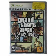 Grand Theft Auto: San Andreas (Microsoft Xbox, 2005) Case & Disc