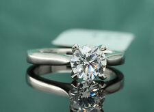 1 Ct Diamond Wedding Bridal Set 14K White Gold Round Cut Engagement Ring 9
