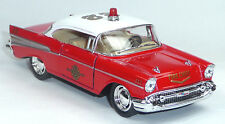 1957 Chevrolet Bel Air Feuerwehr rot Sammlermodell ca. 12,5cm Neuware KINSMART