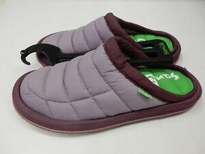 Sanuk Womens Slippers Puff N Chill Low Sea Fog Size 7