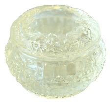 Dose, geformt, in Kristallglas. Motiv Blumen- und Obstband - AE 794
