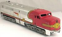 American Flyer No. 473 PA Chrome Santa Fe Chief Diesel Runs but Needs Service