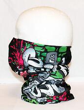Multi use Biker Graffiti Cycling Neck Tube Scarf Snood Face Mask Warm Bandana
