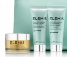 ELEMIS PRO-COLLAGEN ESSENTIALS KIT NIGHT & MARINE CREAM,CLEANSING BALM + BAG NEW