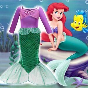 disney little mermaid girl dress