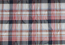 (EUR 15,90/m) Baumwolle Karo Blau Weiß Rot 0,50m x 1,50m (Art 1048)