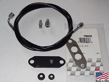 86-93 Mustang 5.0 1/4in Black Billet Aluminum EGR Delete Kit with #3 Boost Hose