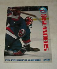 1977 - 1978 NEW YORK ISLANDERS NHL HOCKEY OFFICIAL YEARBOOK CLARK GILLIES