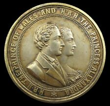 More details for 1863 prince of wales marriage to alexandra 51mm medal - by ottley
