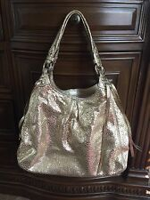 Coach Madison Maggie Crackle Gold Handbag C0926-13898