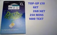 OFFICIAL NEW O2 02 PAY AS U GO £10 BIG BUNDLE STANDARD & MICRO & NANO SIM CARD