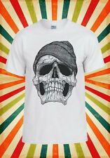 Skull With Beanie Hat Style Vintage Men Women Vest Tank Top Unisex T Shirt 316