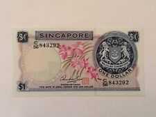 ~ Singapore 1972 $1 One Dollar P 1d Uncirculated Unc