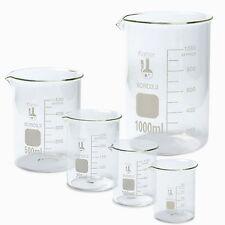 Glass Beaker Set Measuring Borosilicate Pack of 5 Karter Scientific Science Cups