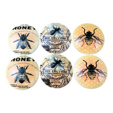 Set of 6 Bee Culture Wood Cabinet Knobs