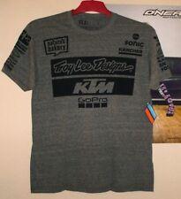 TLD Troy Lee Designs KTM Team T-Shirt Tee 2018 VNTG GRY Grau Neu Größe L