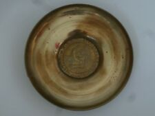 Vintage Brass Bronze Charger Pal Bell Hebrew Script Wall Plaque Jewish Israel