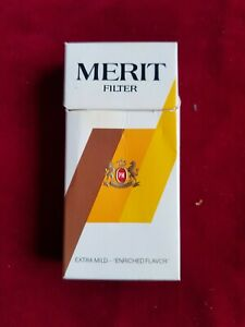 MERIT EXTRA MILD PACCHETTO SIGARETTE VUOTO FOR COLLECTION EMPTY PACKAGE