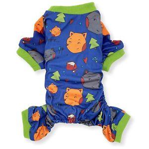 Dog Pajamas Jumpsuit COTTON Blend Soft Cute Pet Clothes Small Medium Pet XXS - L