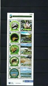 PARK NATURAL ''Amazonia'' 6  ISSUE>> OF COLOMBIA.-  S/SHEET  OF 10  stamps  2020
