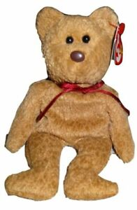 Ty Beanie Babies Curly The Bear Plush - 4052 with 15 Errors
