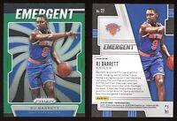 2019-20 Panini Prizm RJ Barrett Emergent Green #27 NM-MT RC Refractor SP Knicks