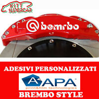 KIT 4 ADESIVI sticker PER PINZE FRENO BREMBO STYLE DA 120MM DI LUNGHEZZA