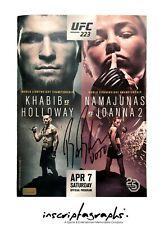 Bruce Buffer Signed UFC 232 Fight Program Autograph COA Khabib Nurmagomedov