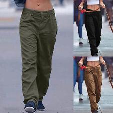 ZANZEA Women Full Length Trousers Loose Baggy Basic Plus Size Ladies Cargo Pants