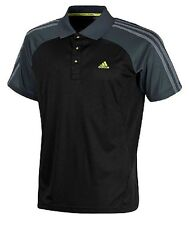 adidas Mens Polo Shirt Clima Cool 365 Black Grey UK Medium in Packs L