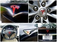 New Fascia Tesla Model S Logo Decal Bundle - Frunk, Trunk, Wheels, and More!