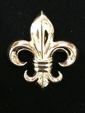 Vintage 14K Gold Fleur de Lis Pin