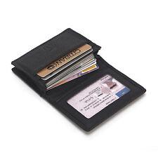 Black Men Cowhide Leather Wallet ID Credit Card Holder Billfold Purse Clutch Hot
