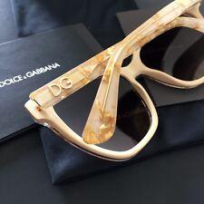 Dolce & Gabbana DG4251 Gold Leaf on Ivory Cat-eye Sunglasses Box NWT 57mm