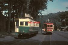 PHOTO  1962 LAXEY RAILWAY STATION CARS NOS. 2 AND 5 OF THE SNAEFELL MOUNTAIN RAI