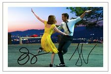 RYAN GOSLING & EMMA STONE LA LA LAND SIGNED PHOTO PRINT AUTOGRAPH