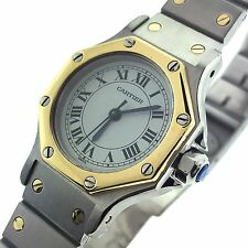 Cartier Santos Octagonal Stainless 18K Yellow Gold Two Tone Automatic Watch