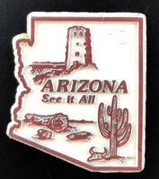Vintage Arizona USA Refrigerator Magnet 90s Retro Travel Souvenir Rubber