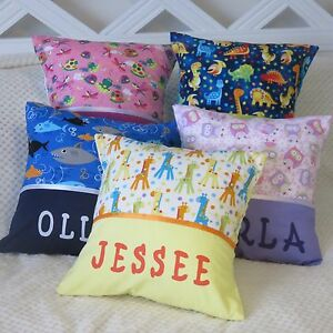 CHILDS / KIDS / BOYS / GIRLS PERSONALISED NAME CUSHION COVERS / KINDY PILLOWS
