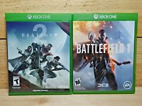 Xbox One Shooter Video Game Lot Destiny 2 & Battlefield 1 Complete No DLC