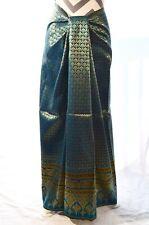 Thai silk blend traditional  pattern fabric 35